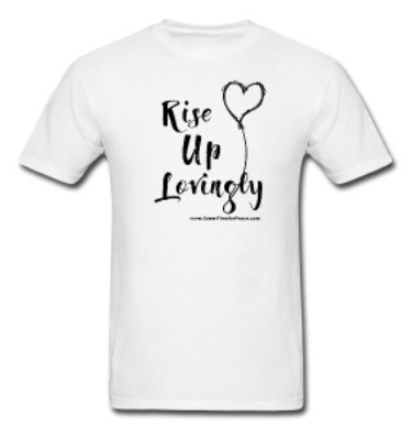 rise up lovingly shirt white
